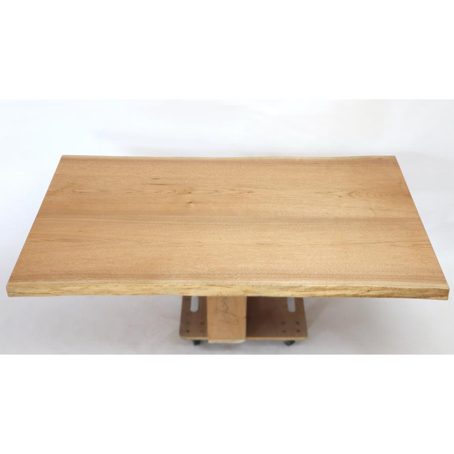 165x約90cm 国産無垢材ダイニングテーブル(オイル仕上)【岩泉純木家具公式ストア】 高さ1ミリ単位でオーダー可 T型脚 クルミ材 ローテーブル 一枚板風 北欧|junboku|02