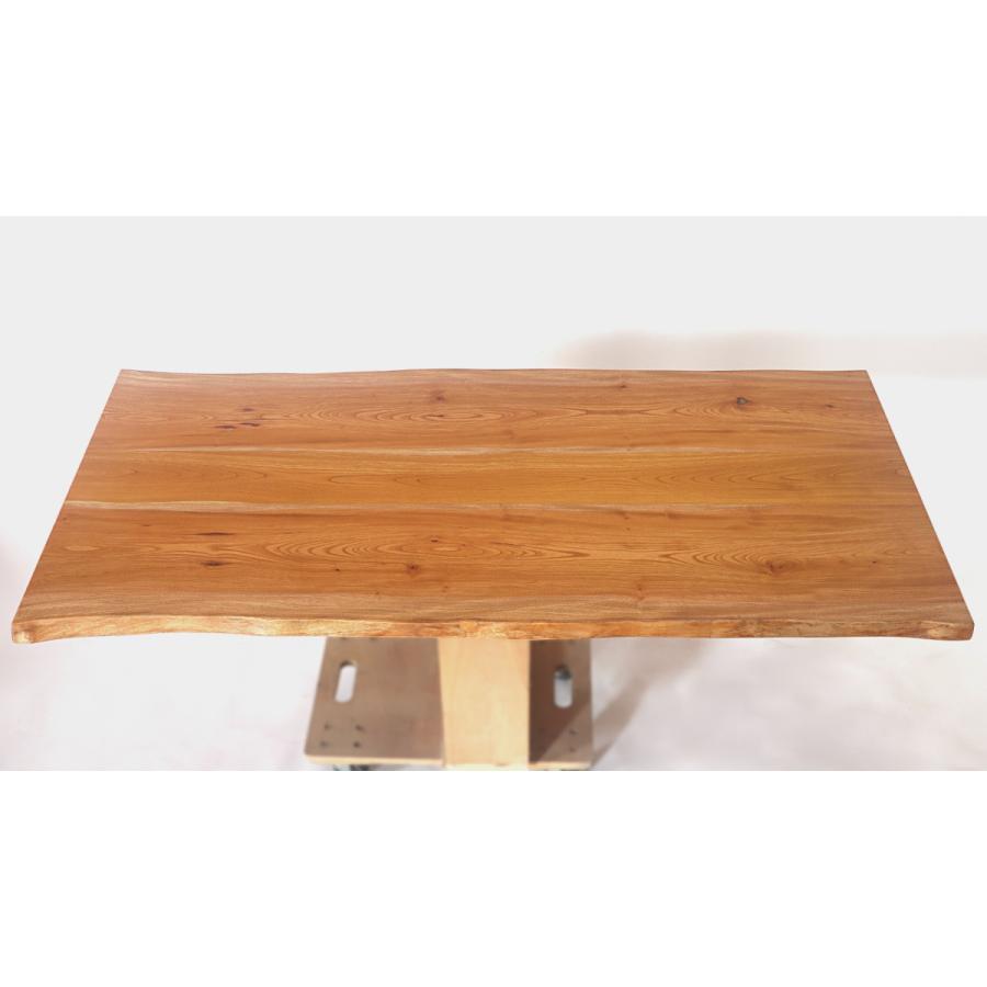 165x約83cm 国産無垢材ダイニングテーブル(オイル仕上)【岩泉純木家具公式ストア】 高さ1ミリ単位でオーダー可 T型脚 ケヤキ材 ローテーブル 一枚板風 北欧 junboku 02