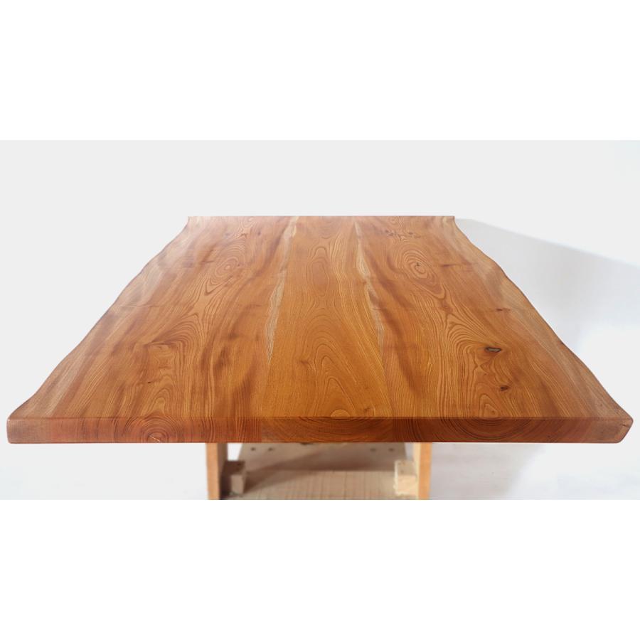 165x約83cm 国産無垢材ダイニングテーブル(オイル仕上)【岩泉純木家具公式ストア】 高さ1ミリ単位でオーダー可 T型脚 ケヤキ材 ローテーブル 一枚板風 北欧 junboku 04