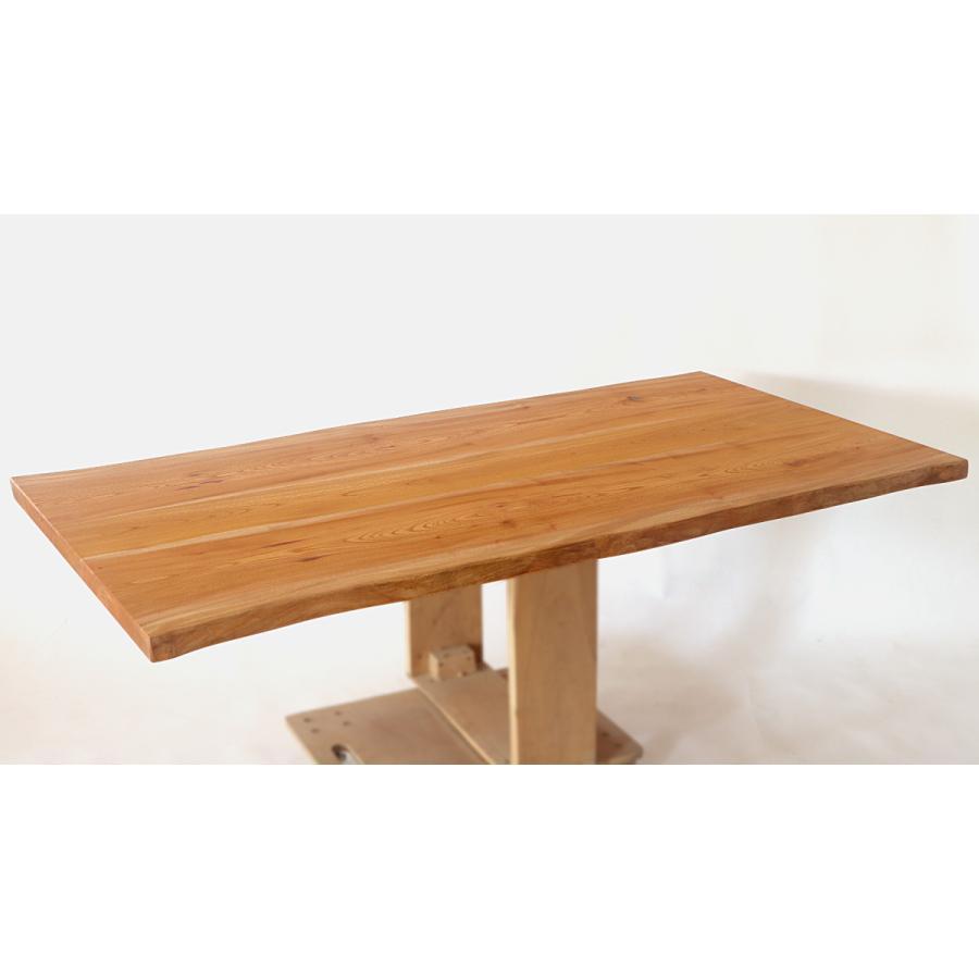 165x約83cm 国産無垢材ダイニングテーブル(オイル仕上)【岩泉純木家具公式ストア】 高さ1ミリ単位でオーダー可 T型脚 ケヤキ材 ローテーブル 一枚板風 北欧 junboku 06