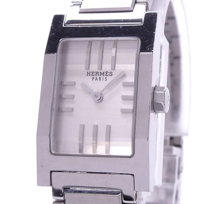 人気沸騰ブラドン 【】エルメス タンデム レディース腕時計 クォーツ SS シルバー文字盤 TA1.210, アーキサイト@ダイレクト 552af933