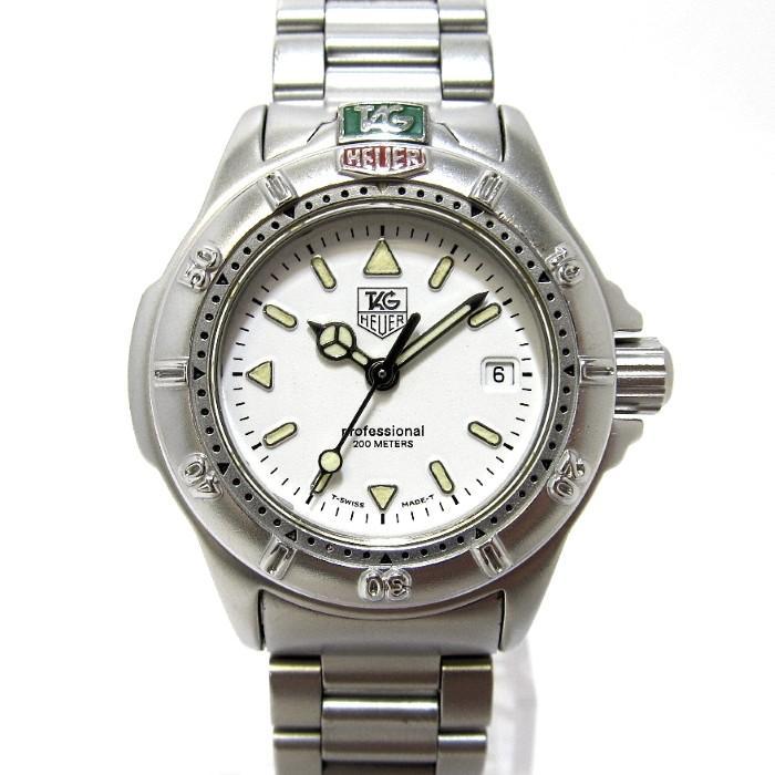 大きな割引 【】TAG Heuer プロフェッショナル 4000シリーズ レディース腕時計 デイト クオーツ 文字盤ホワイト SS WF1412 タグホイヤー 【レディース】【watch】, こだわりほんものSHOP 5d4f0743