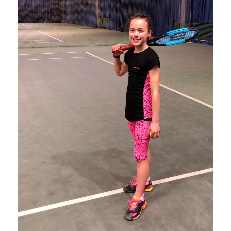 女の子用テニスウェア(2点セット:Tシャツ&カプリパンツ)Girls Tennis T Shirt Cropped Leggings Jessica