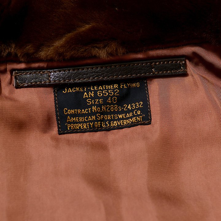 """No.BR80585 BUZZ RICKSON'S バズリクソンズ type AN6552 """"AMERICAN SPORTSWEAR CO.""""