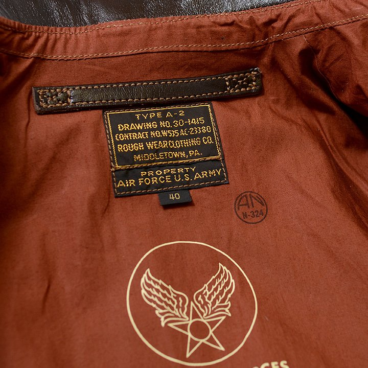 No.BR80593 BUZZ RICKSON'S バズリクソンズ type A-2 CONTRACT No.W535 AC-23380 ROUGHWEAR CLOTHING CO.|junkyspecial|03