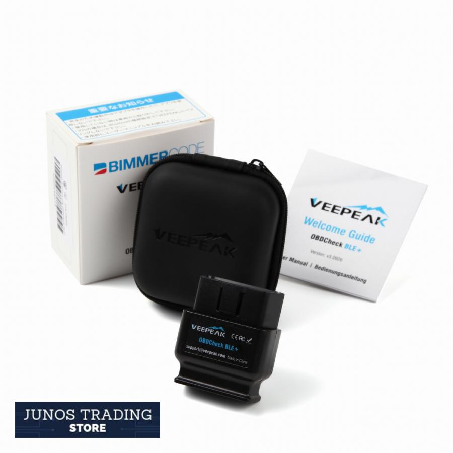 Veepeak OBDCheck BLE+ Bluetooth 4.0 -BimmerCode 公式 BMW MINI コーディング デイライト OBD2スキャンツール junostradingstore