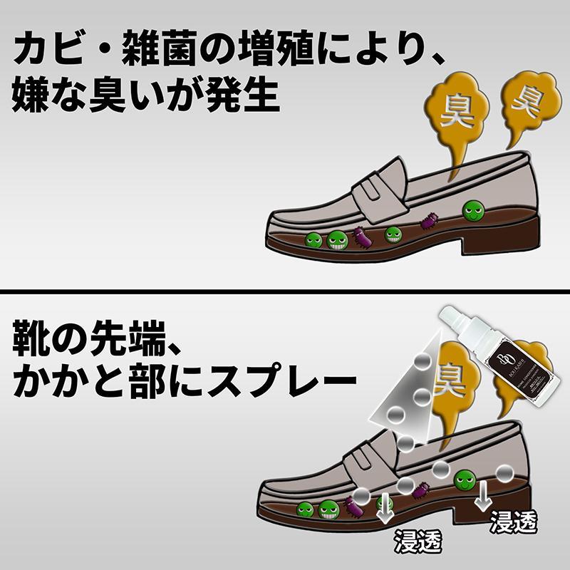 BOUKABI0(ボウカビゼロ) 靴消臭用スプレー 50ml×2 強力 クツ消臭 スプレー 特許製法 ポスト投函商品 除菌 消臭 ブーツ 革靴 ベルト スニーカー HC-BO-A100|junsendo|03