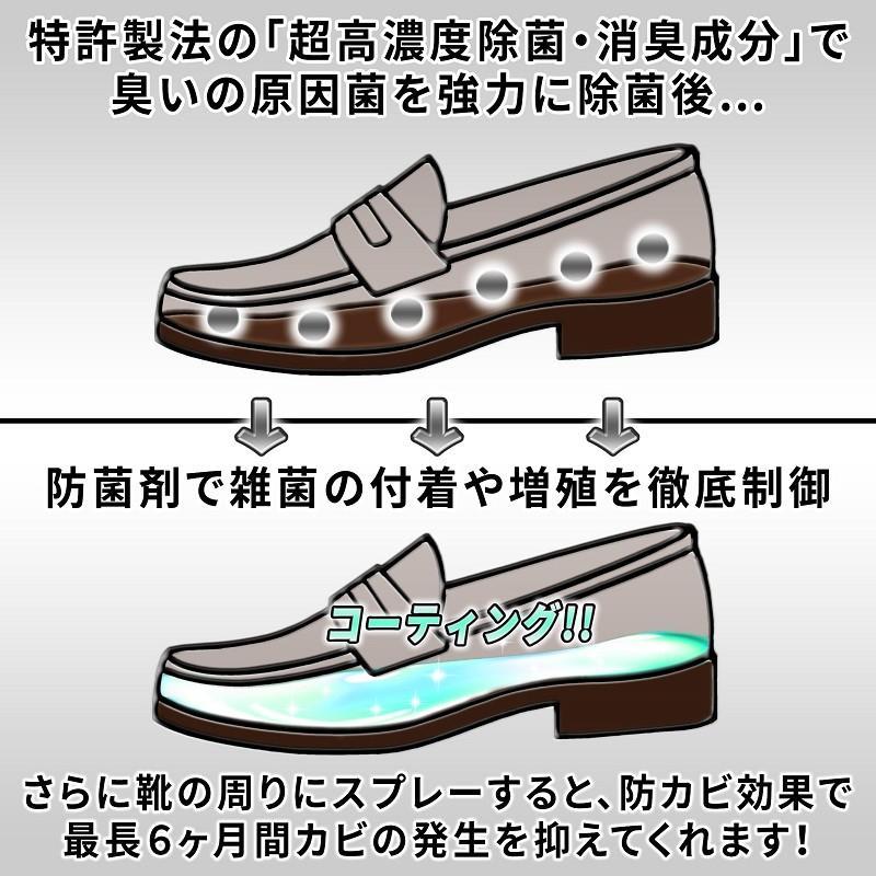 BOUKABI0(ボウカビゼロ) 靴消臭用スプレー 50ml×2 強力 クツ消臭 スプレー 特許製法 ポスト投函商品 除菌 消臭 ブーツ 革靴 ベルト スニーカー HC-BO-A100|junsendo|05
