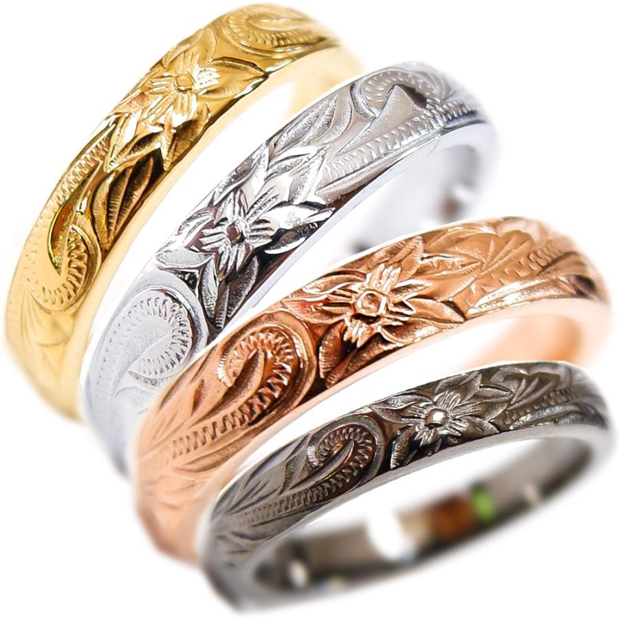 ハワイアンジュエリー リング 指輪 スクロール レディース プルメリア メンズ プレゼント 金属アレルギー対応 サージカル ステンレス|juraice