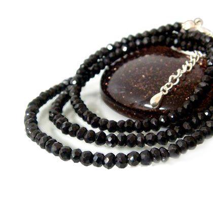ブラックスピネル ブレスレット ネックレス パワーストーン シルバー ステンレス 送料無料 ブラック 石 年度末 sale|juraice