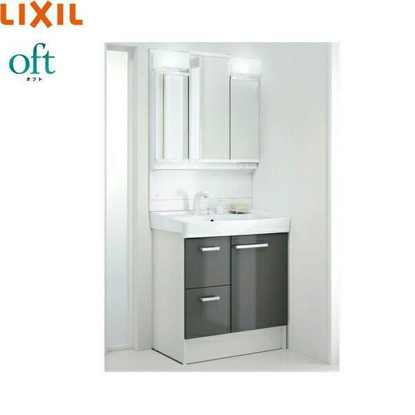 [FTV1H-755SY-W+MFTV1-753TXJU]リクシル[LIXIL][オフト]洗面化粧台セット[セット間口750][送料無料]