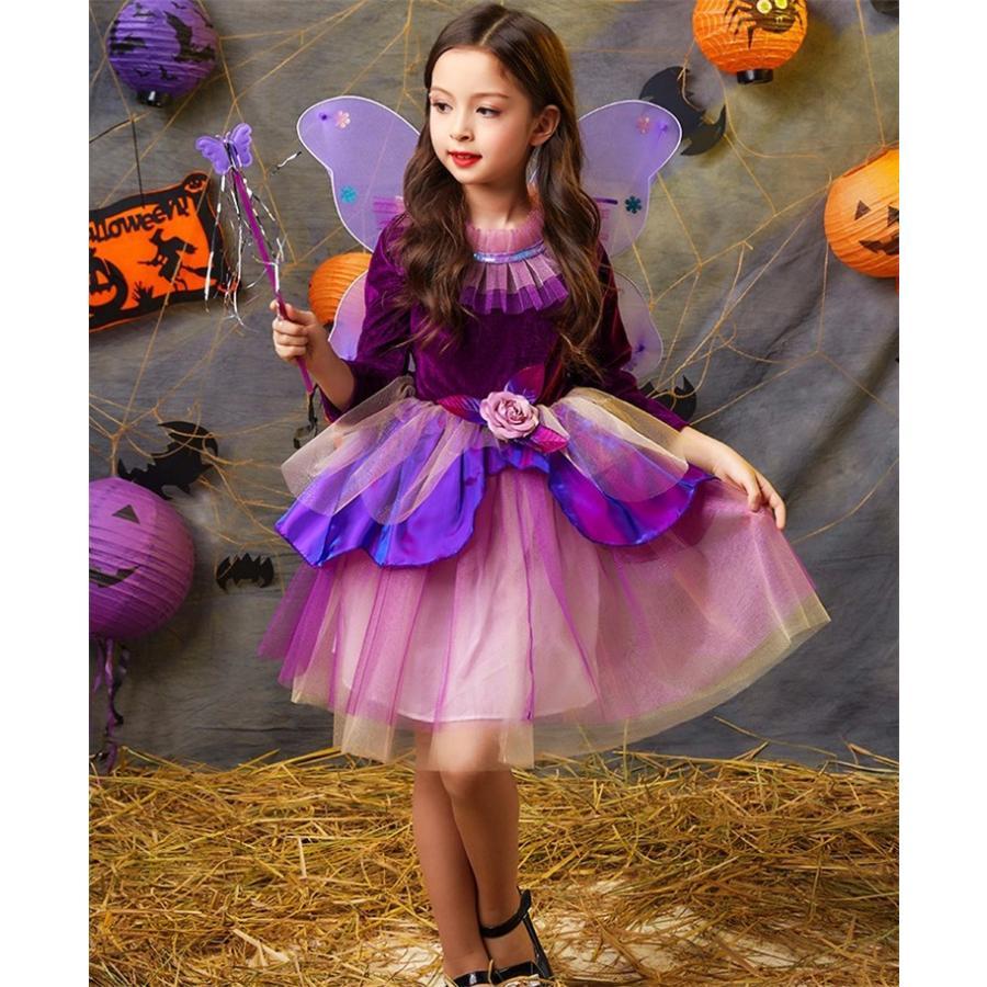 963e662e49852 ハロウィン 女の子 衣装 魔女 子供 コスプレ 仮装 キッズ ワンピース ...
