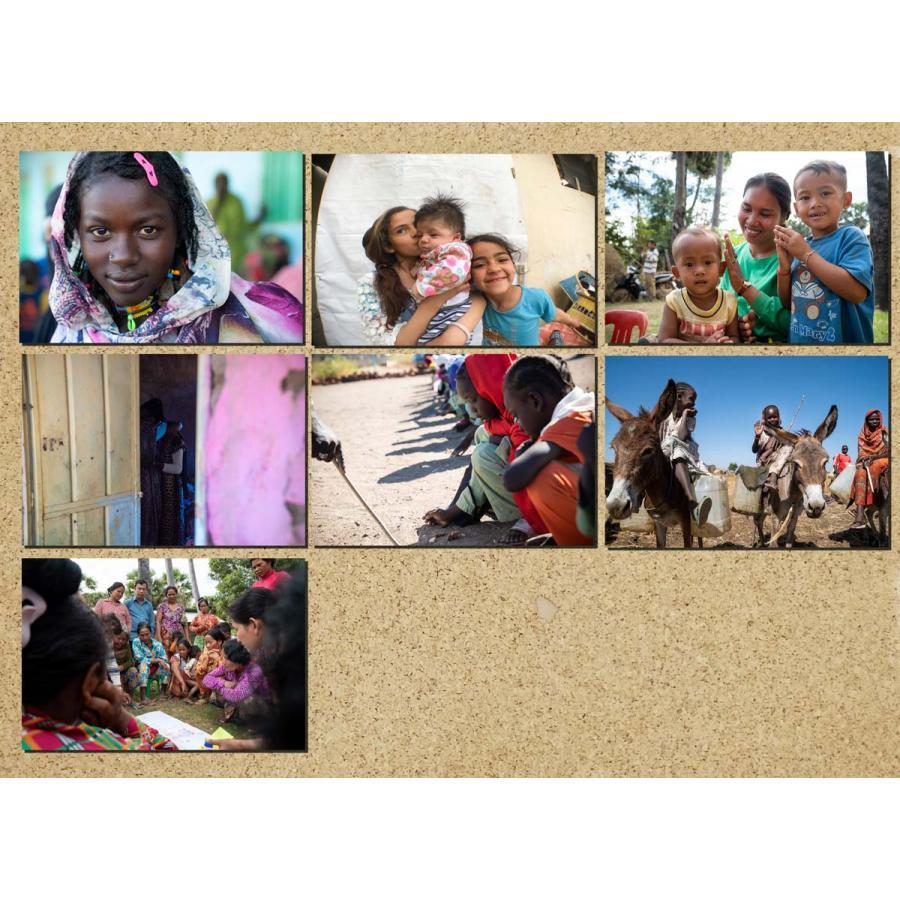 JVC国際協力ポストカード2021 Aタイプ 7枚組 jvc