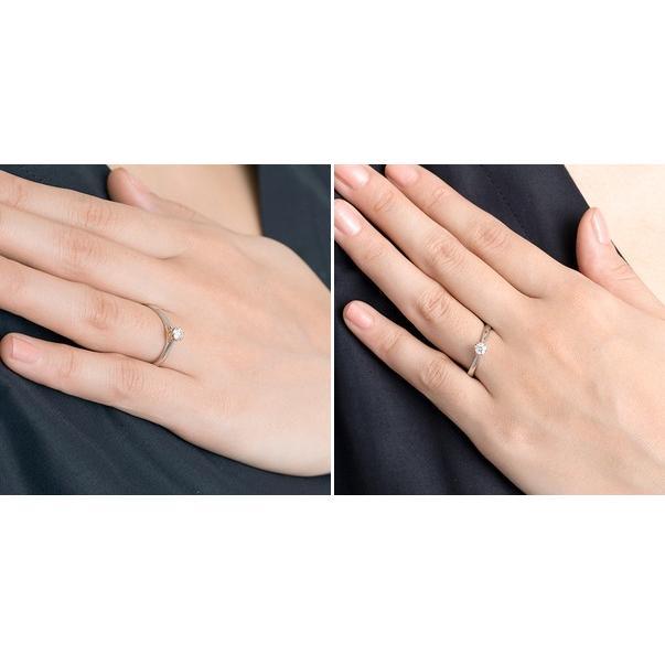 プラチナ リング レディース ダイヤモンド 結婚指輪 刻印 ディズニー ミニー 女性|jwell|03