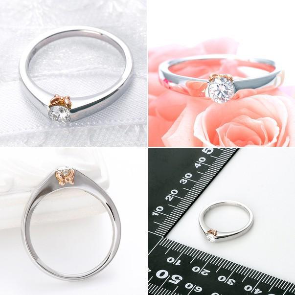 プラチナ リング 指輪 エンゲージリング 婚約指輪 ダイヤモンド 名入れ 刻印 彼女 誕生日プレゼント ディズニー レディース|jwell|02
