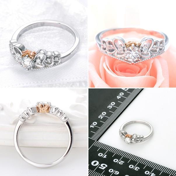 結婚指輪 プラチナ ディズニー 40代 ブランド ミニー シンプル レディース 女性|jwell|02