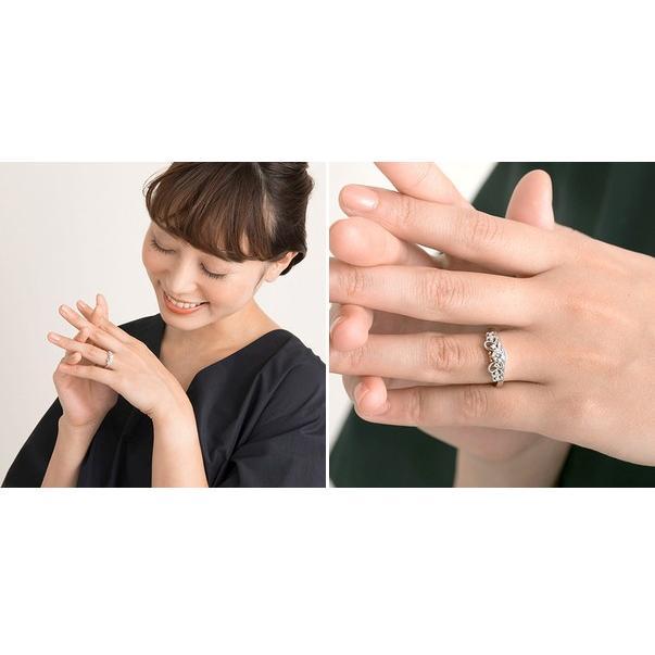 結婚指輪 プラチナ ディズニー 40代 ブランド ミニー シンプル レディース 女性|jwell|03
