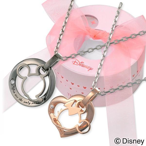 Disney シルバー ペアネックレス 当店オリジナル ペア ザキッス ザキス ディズニー ミッキーマウス ミニーマウス jwell