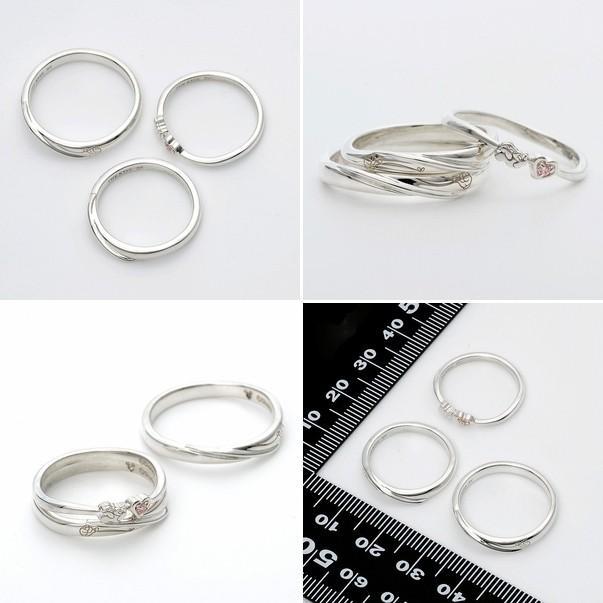 ディズニー ペアリング シルバー カップル 結婚指輪 3本セット ミッキー 当店限定|jwell|02