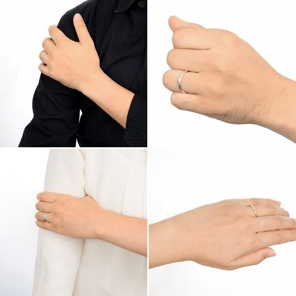 ディズニー ペアリング シルバー カップル 結婚指輪 3本セット ミッキー 当店限定|jwell|03