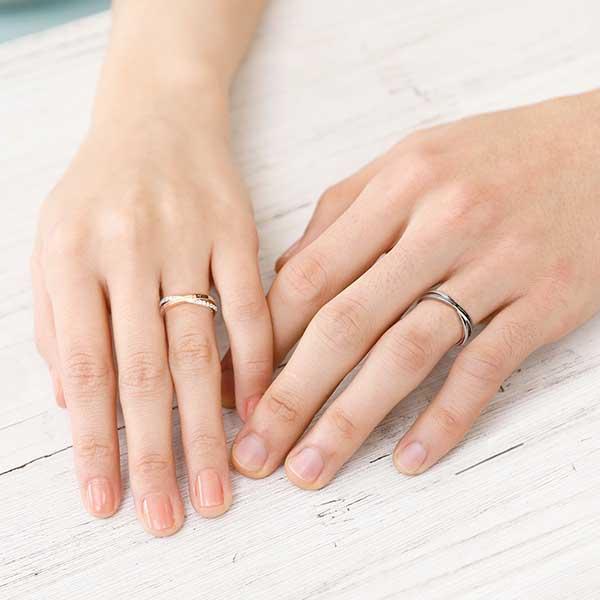 ペアリング 2本セット 結婚指輪 czダイヤモンド カップル シルバー シンプル セット|jwell|02