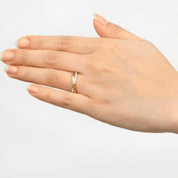 ペアリング 2本セット 結婚指輪 czダイヤモンド カップル シルバー シンプル セット|jwell|12