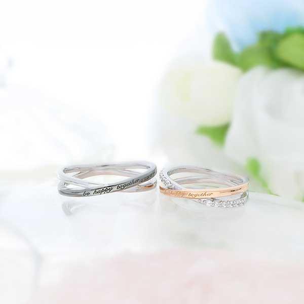 ペアリング 2本セット 結婚指輪 czダイヤモンド カップル シルバー シンプル セット|jwell|03