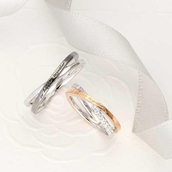 ペアリング 2本セット 結婚指輪 czダイヤモンド カップル シルバー シンプル セット|jwell|04