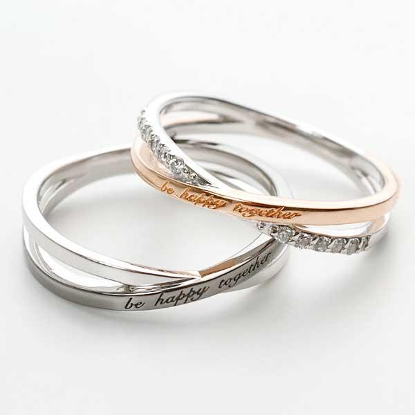 ペアリング 2本セット 結婚指輪 czダイヤモンド カップル シルバー シンプル セット|jwell|05