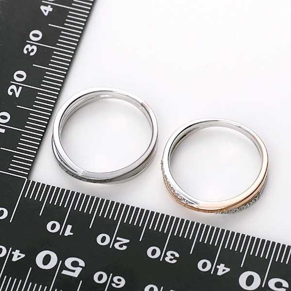 ペアリング 2本セット 結婚指輪 czダイヤモンド カップル シルバー シンプル セット|jwell|07