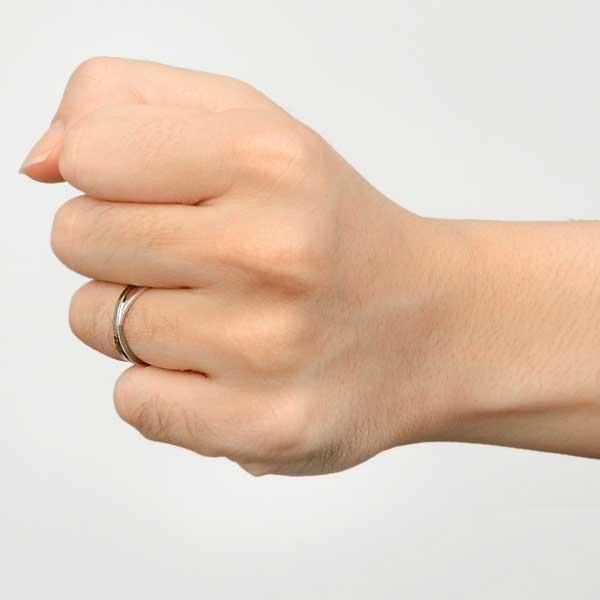ペアリング 2本セット 結婚指輪 czダイヤモンド カップル シルバー シンプル セット|jwell|09