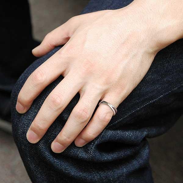 ペアリング 2本セット 結婚指輪 czダイヤモンド カップル シルバー シンプル セット|jwell|10