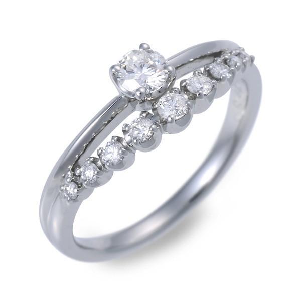 プラチナ リング 指輪 ダイヤモンド 彼女 誕生日プレゼント 記念日 ギフトラッピング レディース|jwell