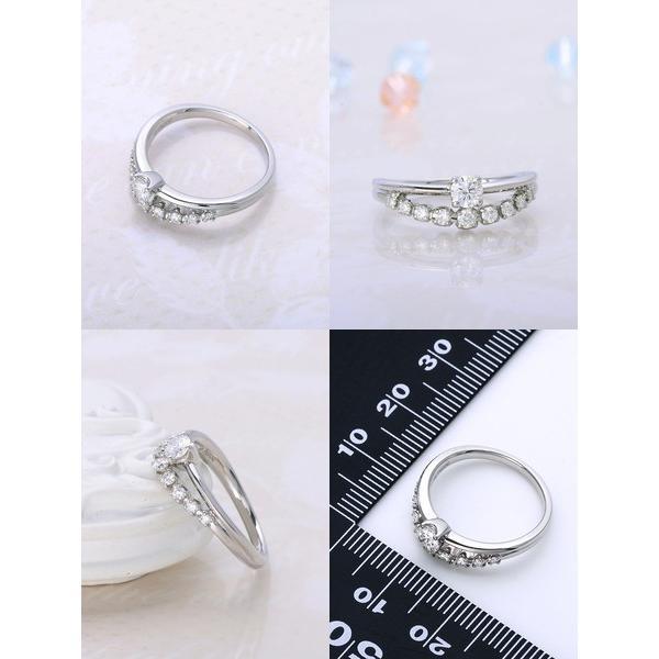 プラチナ リング 指輪 ダイヤモンド 彼女 誕生日プレゼント 記念日 ギフトラッピング レディース|jwell|02