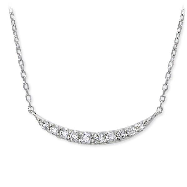 ホワイトゴールド ネックレス ダイヤモンド 彼女 プレゼント ウィスプ 誕生日 送料無料 レディース|jwell