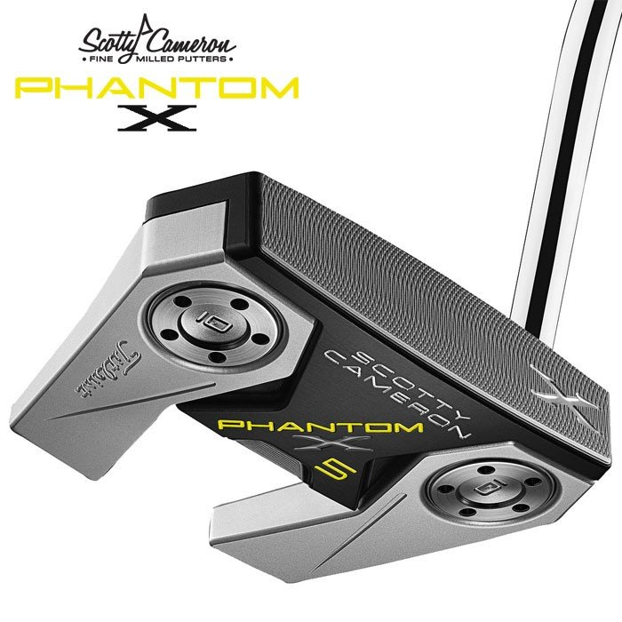 スコッティキャメロン ファントムX 5 パター 34インチ SCOTTY CAMERON PHANTOM X ピストレロプラスグリップ装着 ヘッドカバー付属 右利き用(USモデル)(新品)