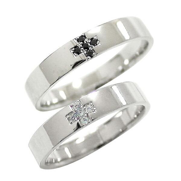 お気に入りの 結婚指輪 プラチナ クロス マリッジリング ダイヤモンド ブラックダイヤモンド Pt900 ペアリング 十字架 2本セット, 作業服 安全靴 安全帯のまもる君 fc9140af