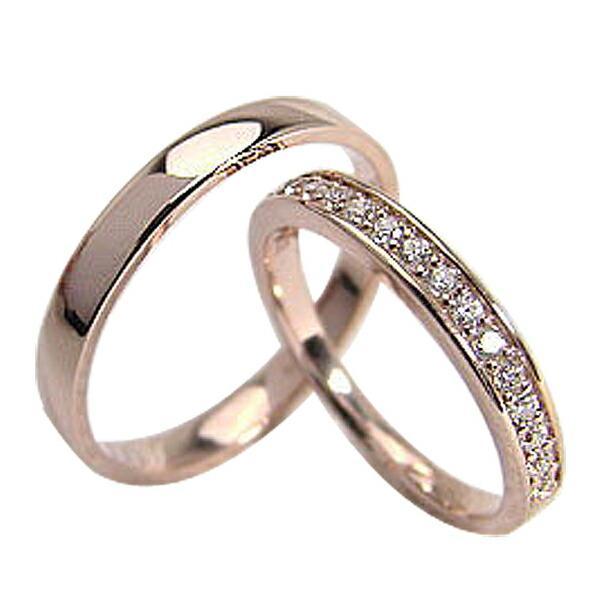 【新発売】 結婚指輪 エタニティリング ペアリング ピンクゴールドK18 ダイヤモンド ピンクゴールドK18 マリッジリング カップル ホワイトデー プレゼントに, ミウラシ ffecc023