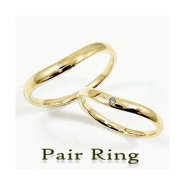 人気大割引 結婚指輪 ペアリング イエローゴールドK18 ダイヤモンド 18金 マリッジリング カップル ホワイトデー プレゼントに, いい肌ピオス 5e60f701