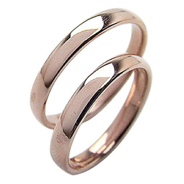 見事な 結婚指輪 平甲丸 3mm ペアリング ピンクゴールドK18 マリッジリング 18金 カップル ホワイトデー プレゼントに, イマジョウチョウ b2a0932a