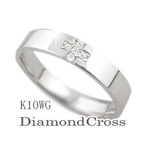完成品 ダイヤモンドクロスリング ホワイトゴールドK10 レディースリング K10WG K10WG ホワイトデー 指輪 指輪 ring ファッションリング ホワイトデー プレゼントに, SSペイント:d373c03f --- airmodconsu.dominiotemporario.com