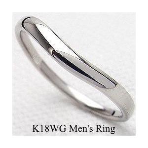 超人気の メンズリング ホワイトゴールドK18 オシャレ K18WG シンプルリング 記念日 K18WG men'sアクセサリー 記念日 オシャレ, カサリチョウ:c300628c --- airmodconsu.dominiotemporario.com