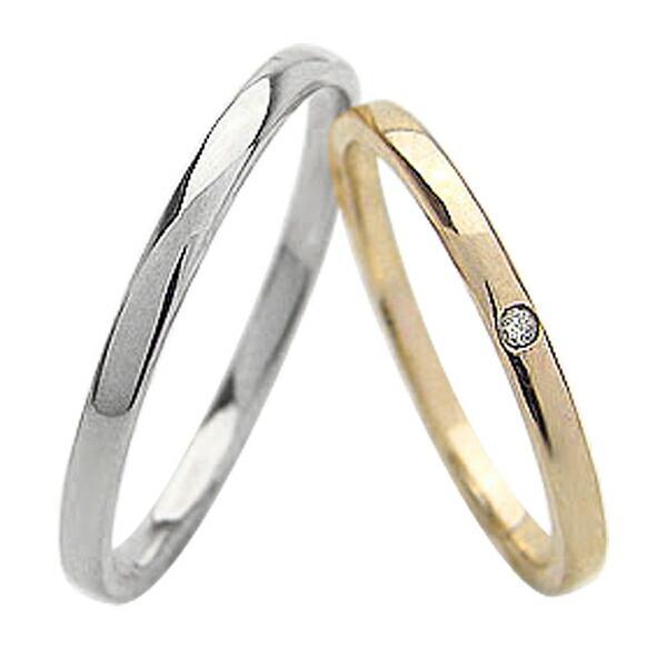 【2018最新作】 結婚指輪 ペアリング 一粒ダイヤモンド シンプル マリッジリング シンプル ストレート マリッジリング イエローゴールドK10 ホワイトゴールドK10 ペアリング 10金, 新しいブランド:2a31b01f --- airmodconsu.dominiotemporario.com