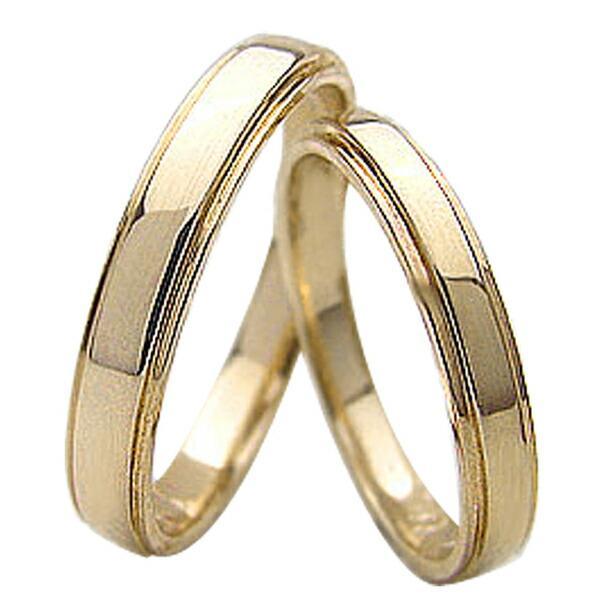 【限定品】 結婚指輪 シンプルデザイン イエローゴールドK18 ペアリング マリッジリング 18金 2本セット カップル ホワイトデー プレゼントに, 瑞穂区 15f75a50