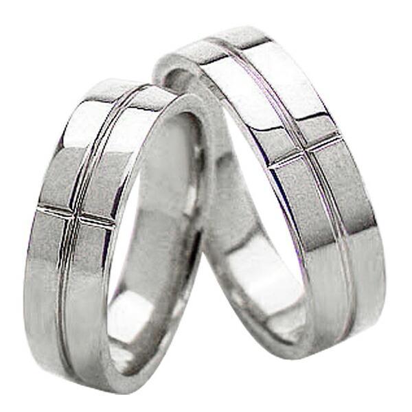 割引 結婚指輪 クロス 5ミリ幅 ペアリング ホワイトゴールドK10 マリッジリング 2本セット カップル ホワイトデー プレゼントに, conoMe(コノミイ) 71ae1d3c
