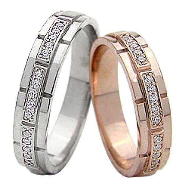保障できる 結婚指輪 バンドデザイン ダイヤモンド ペアリング 18金 ピンクゴールドK18 ホワイトゴールドK18 マリッジリング カップル ホワイトデー プレゼントに, ヘナハーブショップ BOH 35d8dfeb