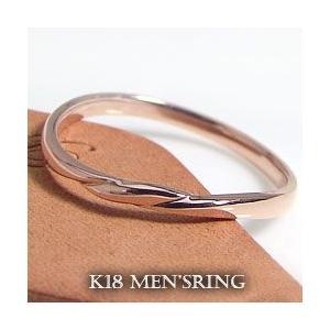 入園入学祝い メンズリング シンプル メンズリング 指輪 K18 シンプル 指輪, カミゴオリチョウ:3ba05454 --- photoboon-com.access.secure-ssl-servers.biz