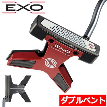 オデッセイ ODYSSEY 2018 EXO INDIANAPOLIS (エクソー インディアナポリス) パター [ダブルベンドネック/WORKS Tour DFXグリップ装着](日本正規品) ゴルフ用品