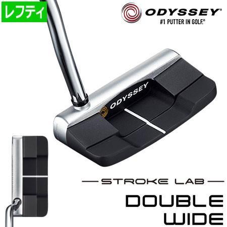 オデッセイ ストローク ラボ DOUBLE WIDE 左用 パター ODYSSEY STROKE LAB 2019年モデル [Over sizeグリップ装着] (日本正規品)