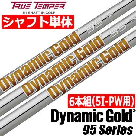 トゥルーテンパー Dynamicゴールド 95 (ダイナミックゴールド95) スチールシャフト単品 [6本組/5I-PW用]